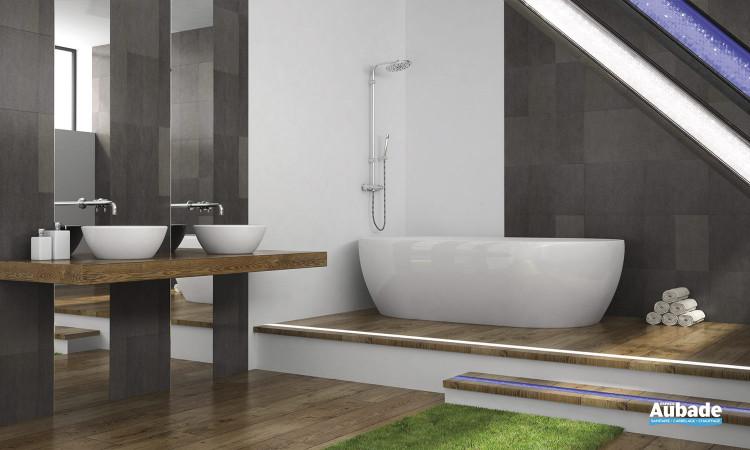 Ligne lumineuse «effet pailleté» sur-mesure pour salle de bains