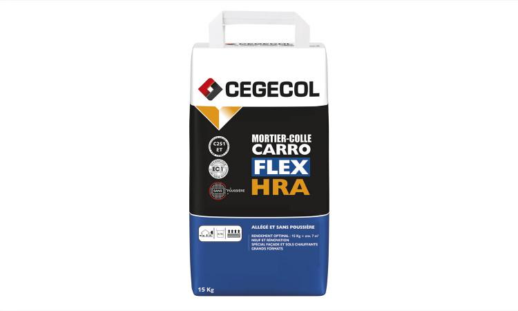 Mise en œuvre mortier-colle Carroflex HRA de Cegecol