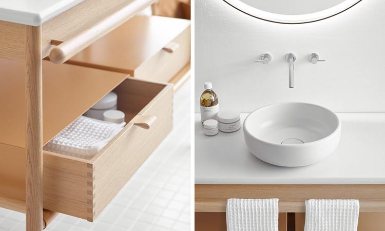 Meubles de salle de bains blancs Mya de la marque Burgbad