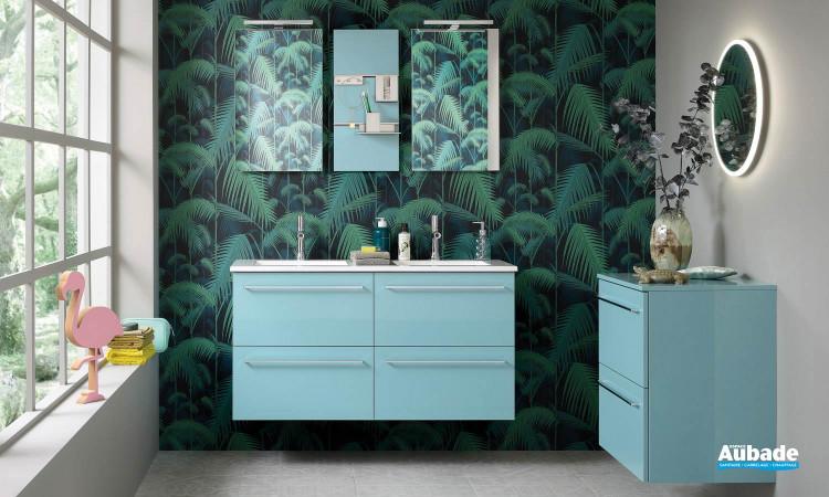 Meuble 4 tiroirs avec double vasque Impact 2 coloris laqué de la marque Sanijura