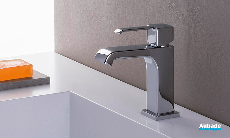 Mitigeur lavabo bas sans vidage Quadrata chromé par Cristina