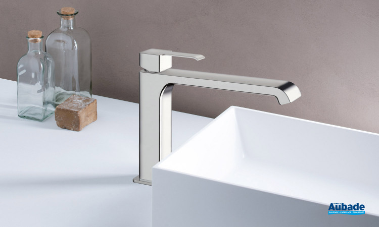 Mitigeur lavabo medium Quadrata chromé par Cristina