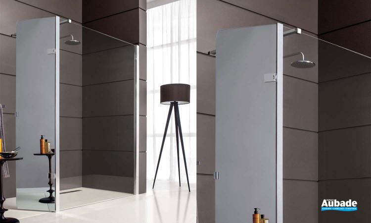 Paroi de douche Jazz + de Leda avec option panneau mobile miroir