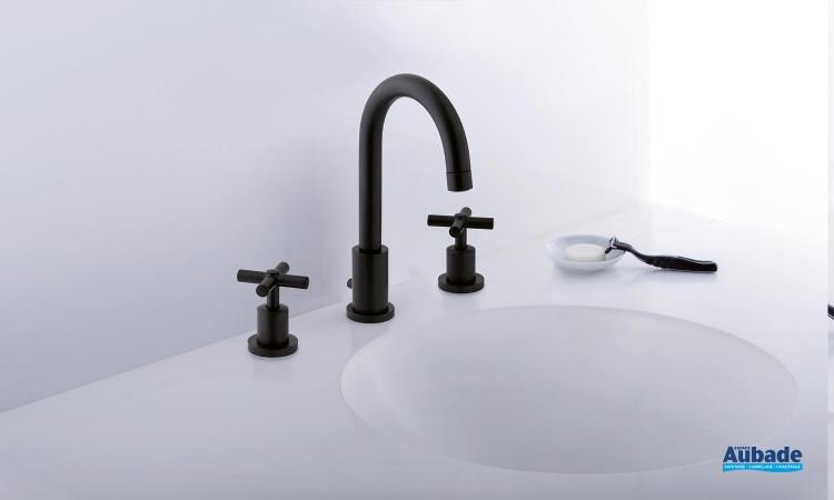 Mitigeur lavabo 3 trous col de cygne Cristina