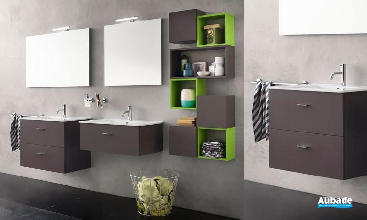 Collection de meubles de salle de bains CITY par Inda 3