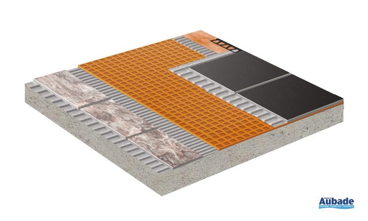 Natte de découplage/désolidarisation et d'étanchéité Schluter Systems Schlüter®-DITRA 25