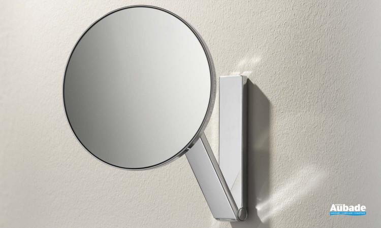 accessoire salle de bains keuco miroir rond grossissant ilook move
