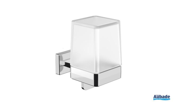 Distributeur de savon à fixer Cubo coloris chromé par Inda