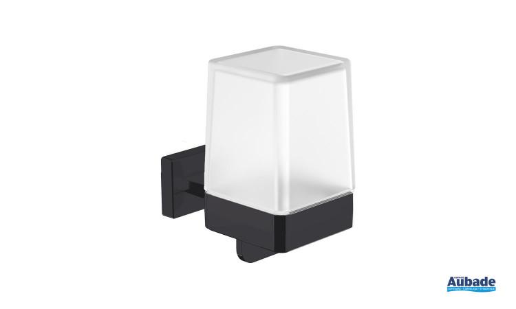 Distributeur de savon à fixer Cubo coloris noir mat par Inda