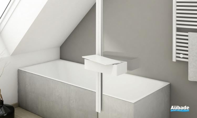 Accessoires pour paroi Walk-in Kit 2 Boîte de rangement de SanSwiss Blanc mat