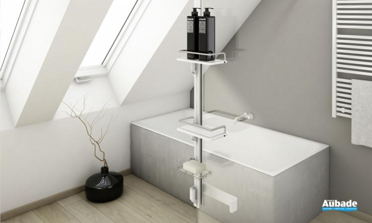 Accessoires pour paroi Walk-in Kit 2 Frontal de SanSwiss Blanc mat