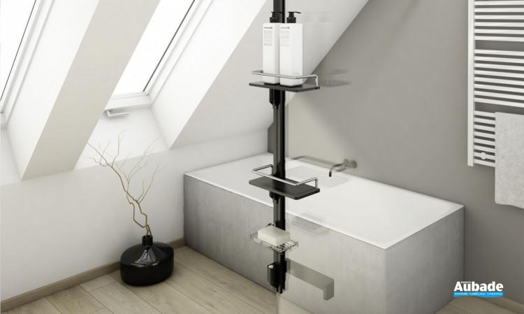 Accessoires pour paroi Walk-in Kit 2 Frontal de SanSwiss Noir mat
