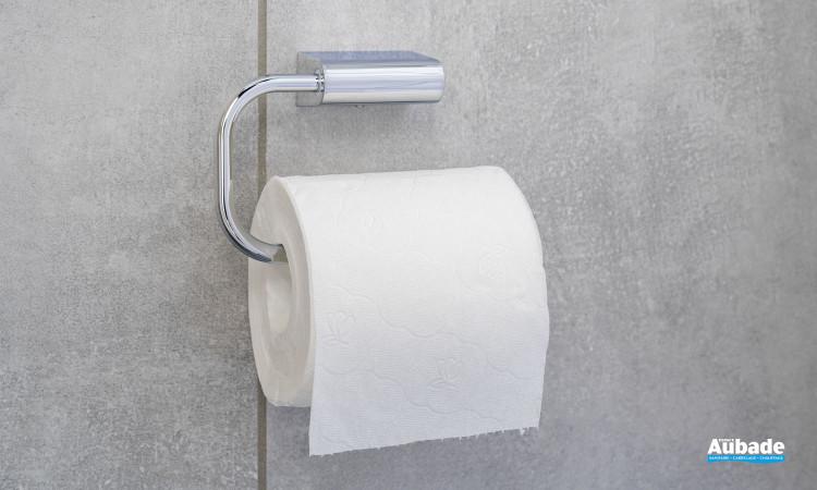 Dérouleur papier wc Clivia en finition chromé à fixer au mur de la marque Vigour