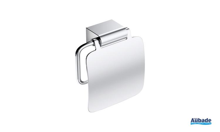 Dérouleur à papier toilette Clivia en finition chromé à fixer au mur de la marque Vigour
