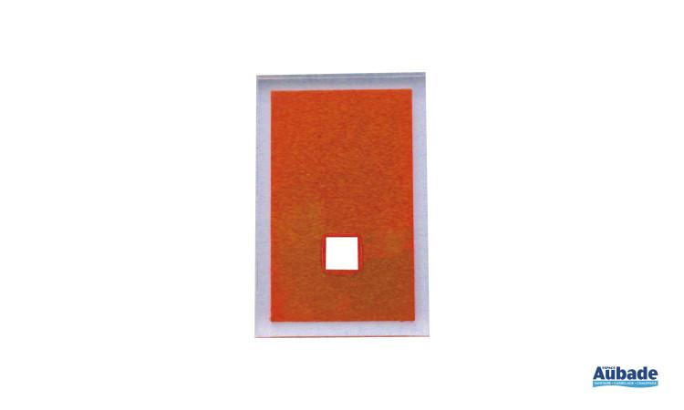 accessoires tendances pour salle de bains en coloris orange
