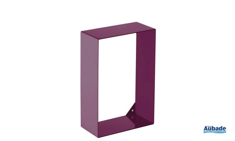 Etagère de la marque Griffon, en acier colorée pour toilette, coloris bordeaux