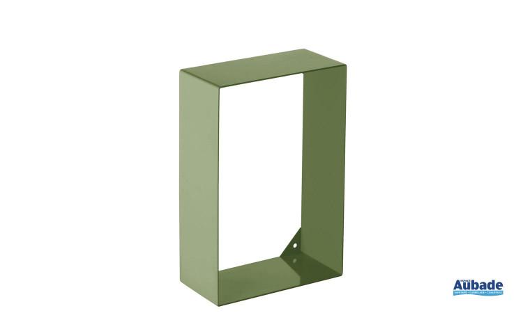 Etagère de la marque Griffon, en acier colorée pour toilette, coloris vert