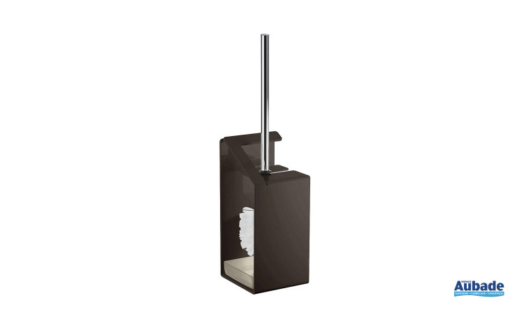 porte-brosse wc coloré Griffon en aluminium laqué, coloris noir