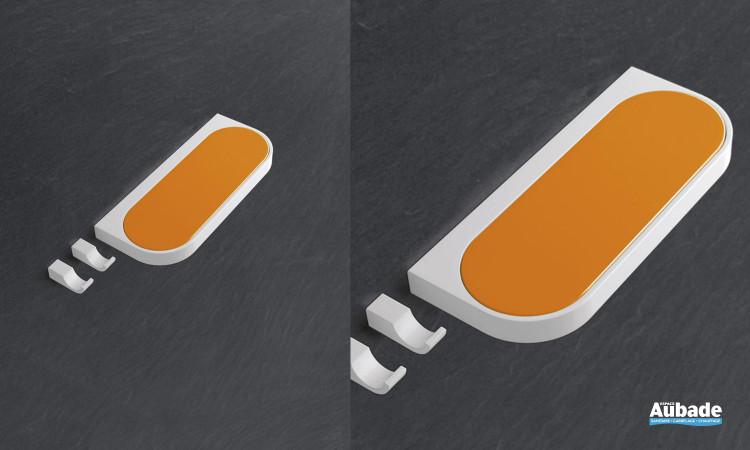 porte-savon orange pour salle de bain adaptée PMR Hewi
