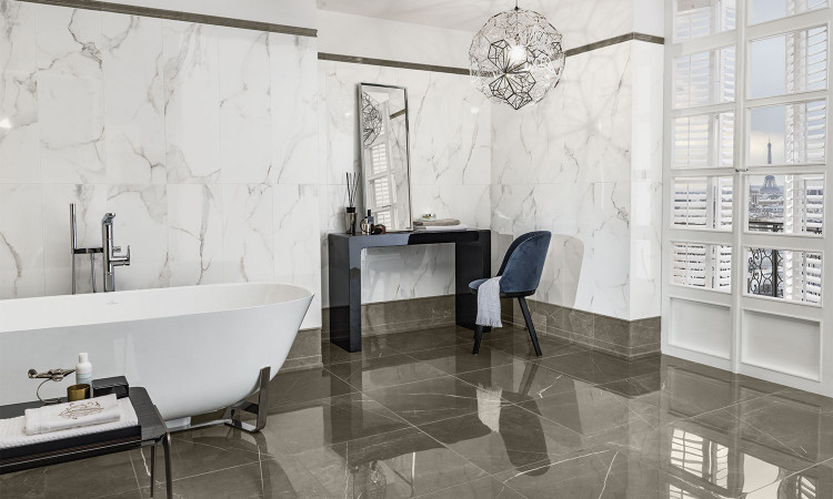 Collection Marmochic par Villeroy & Boch en teinte essential white