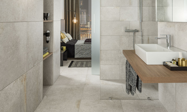 Collection Tucson par Villeroy & Boch en teinte light rock