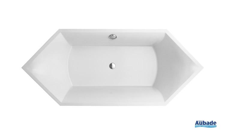 Baignoire hexagonale  design Squaro de VIlleroy & Boch