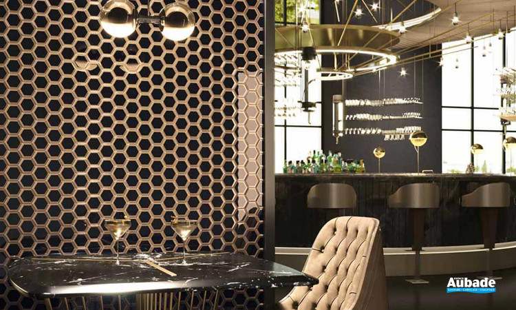 Collection Bel Air par Barwolf en coloris Black Gold Hexagon