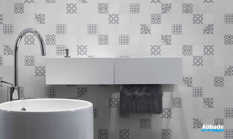 Collection Patchwork par Bati-Orient en coloris Blanc/Gris