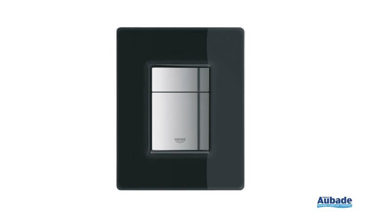 Plaque de commande wc en verre noir Skate Cosmopolitan de Grohe
