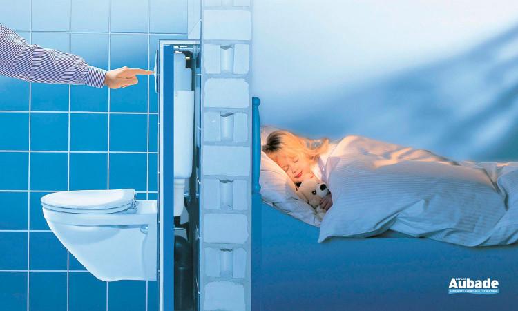 Le bâti-support et son équipement contribuent à réduire au maximum le transfert des bruits de fonctionnement dans la cloison Rapid SL WC de Grohe
