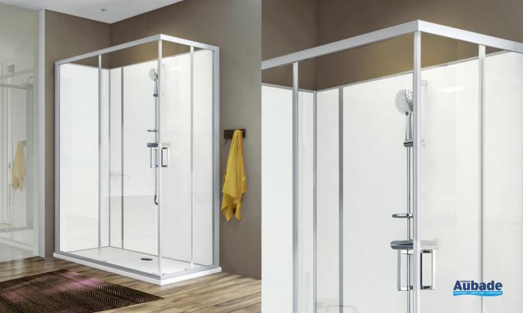 Cabine de douche Moorea Leda - coulissante L.140 confort