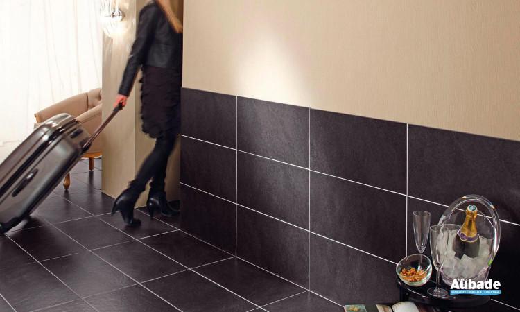 Carrelage grès cérame noir pour sol intérieur Angers de Douzies