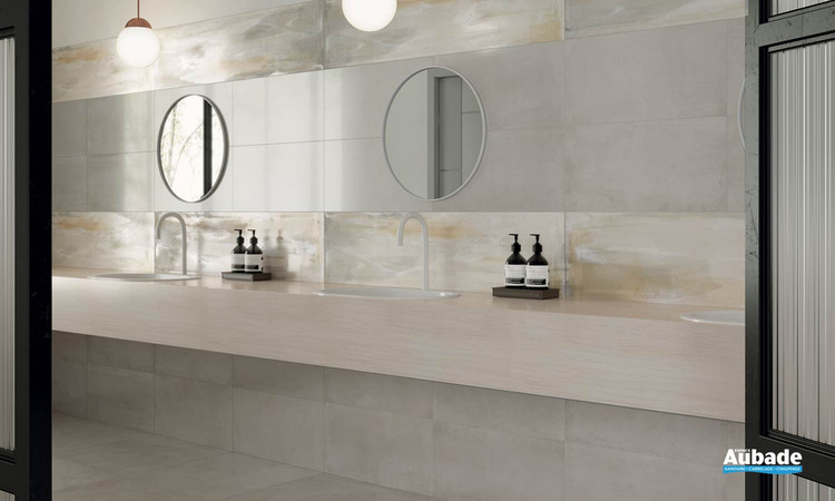 Collection Materia par Ceramiche Piemme en coloris Shimmer et Raku Warm