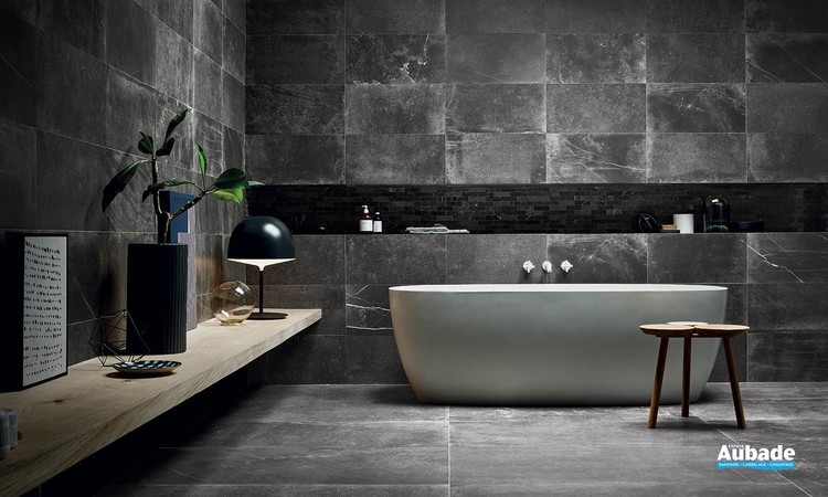 Collection Uniquestone par Ceramiche Piemme en coloris Nite