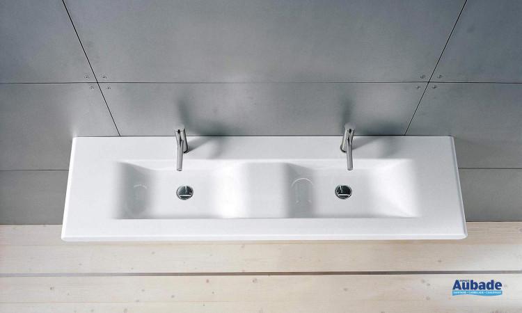 lavabo double en céramique Living Style, par Laufen
