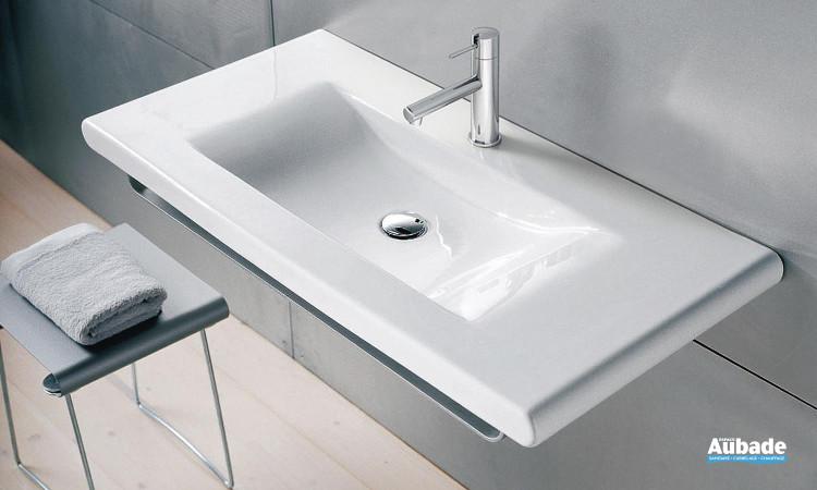 lavabo en céramique à poser sur un meuble, Laufen Living Square