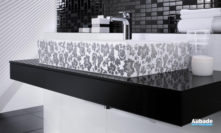 lavabo noir ultra-design Villeroy & Boch de la collection Memento