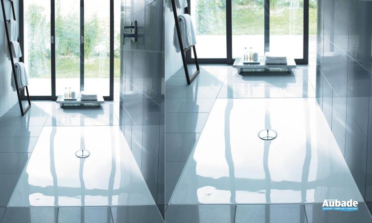 Receveur de douche à poser extra plat disponible en plusieurs dimensions Duraplan Duravit