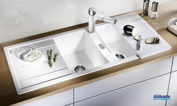 Evier sous meuble moderne avec deux cuves Blanco Metra 8S de Blanco