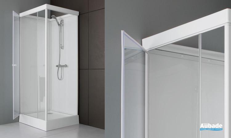 Cabine de douche intégrale Leda 80 x 80 cm en verre