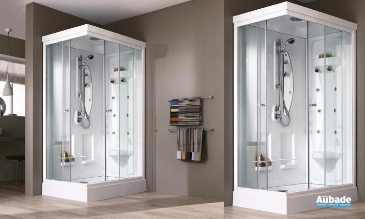 Cabine de douche complète Odyssée de Leda avec fonctions massantes et relaxantes