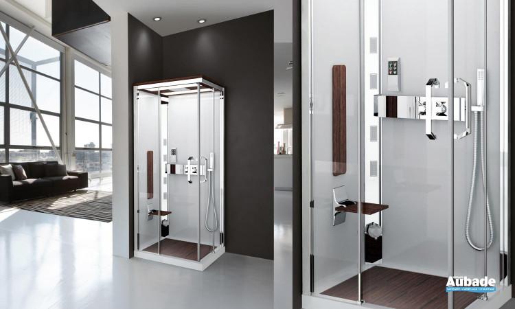 Cabine de douche complète Nexis de Novellini avec télécommande et radio