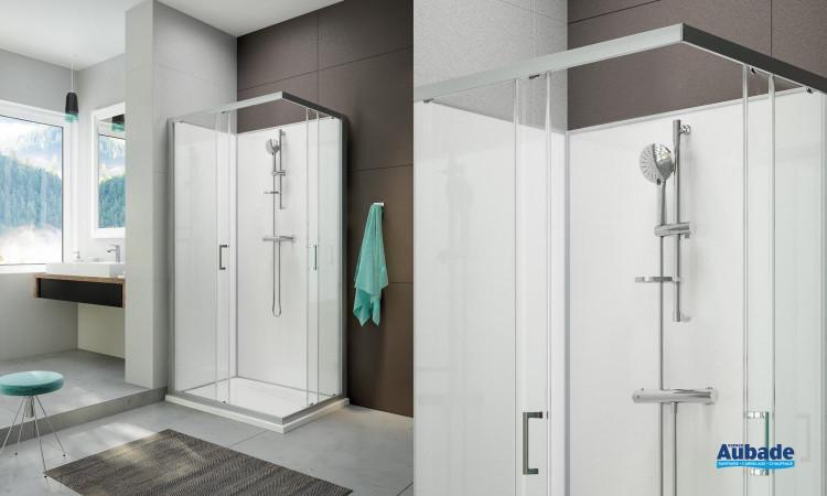 Cabine de douche intégrale Moorea avec porte coulissante version Confort de la marque Hoesch by Leda