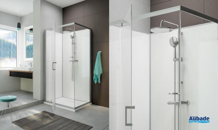 Cabine de douche intégrale Moorea avec porte pivotante version Avantage de Hoesch by Leda