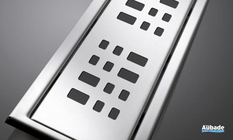 Caniveau design et étanche Docia de Nicoll modèle carrés