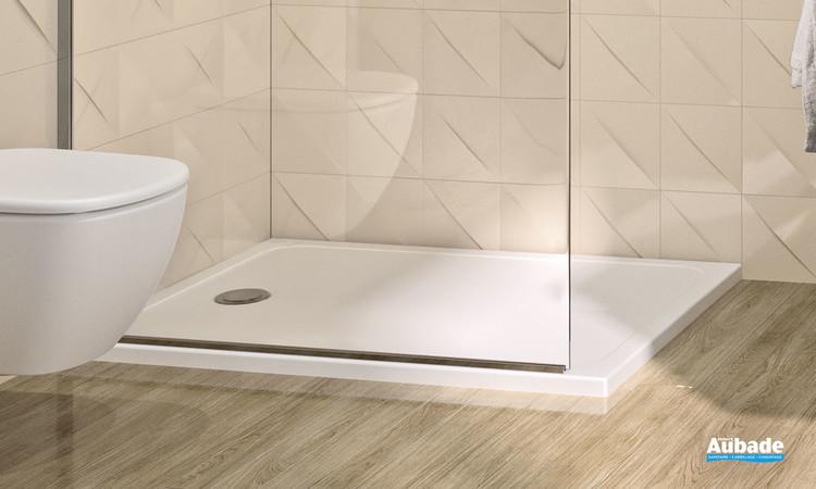 Receveur Velours Evolution en céramique blanc mat dimensions 80 par 100 centimètres de la marque Ideal Standard