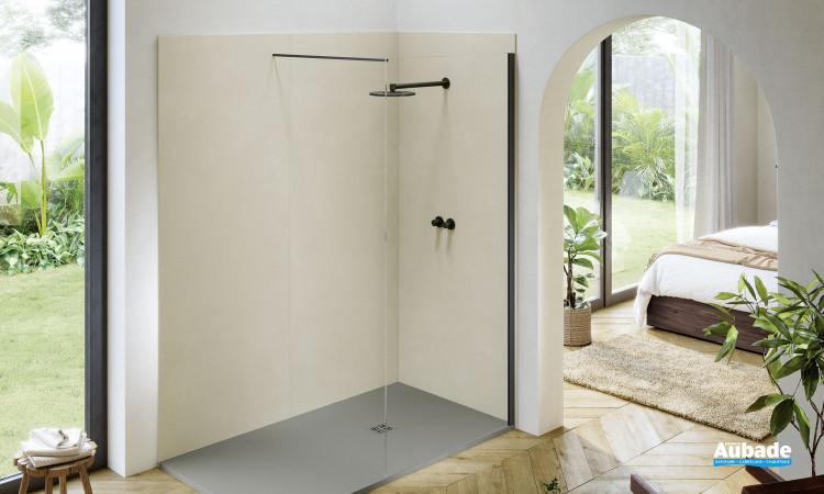 Panneaux muraux pour douche à l'italienne Compact coloris Epur Beige de Acquabella