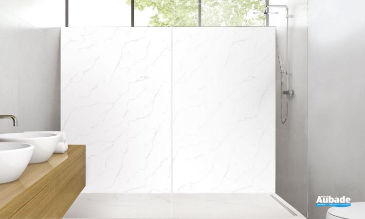 Panneau mural déco-douche coloris marbre mat de Lazer