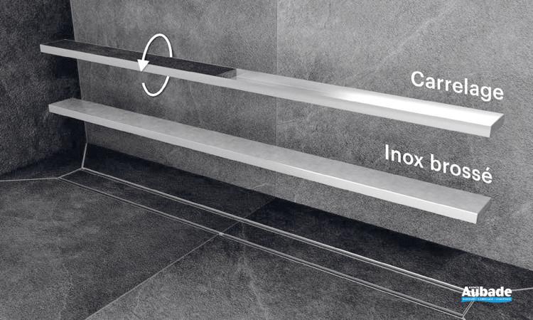 Caniveau de douche Individual coloris inox brossé ou à carreler de Vigour