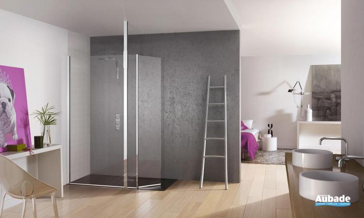 paroi de douche en verre design Kinedo Kinespace ouvert